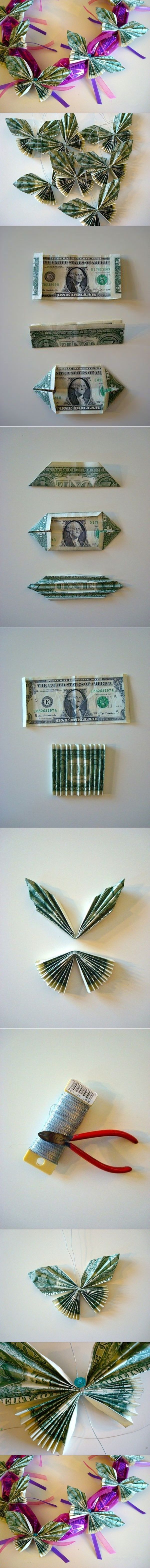 I came across a post of making dollar bill butterflies, the author uses them to…