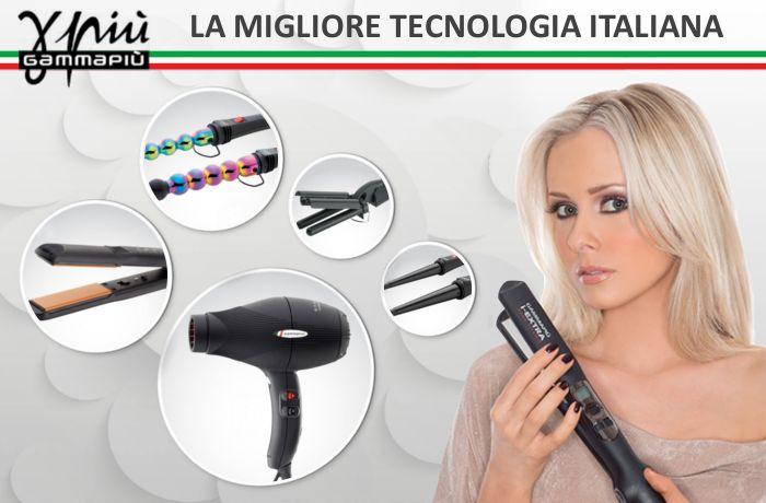 GammaPiù la migliore azienda Italiana per la produzione di PIASTRE FERRI ONDULATORI ARRICCIACAPELLI E PHON PROFESSIONALI PER PARRUCCHIERI