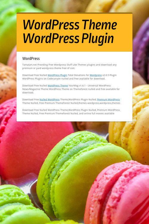 WordPress Theme WordPress Plugin