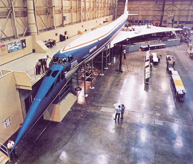 Boeing 2707-300  Full-scale mockup, Plant 2 complex, 1966