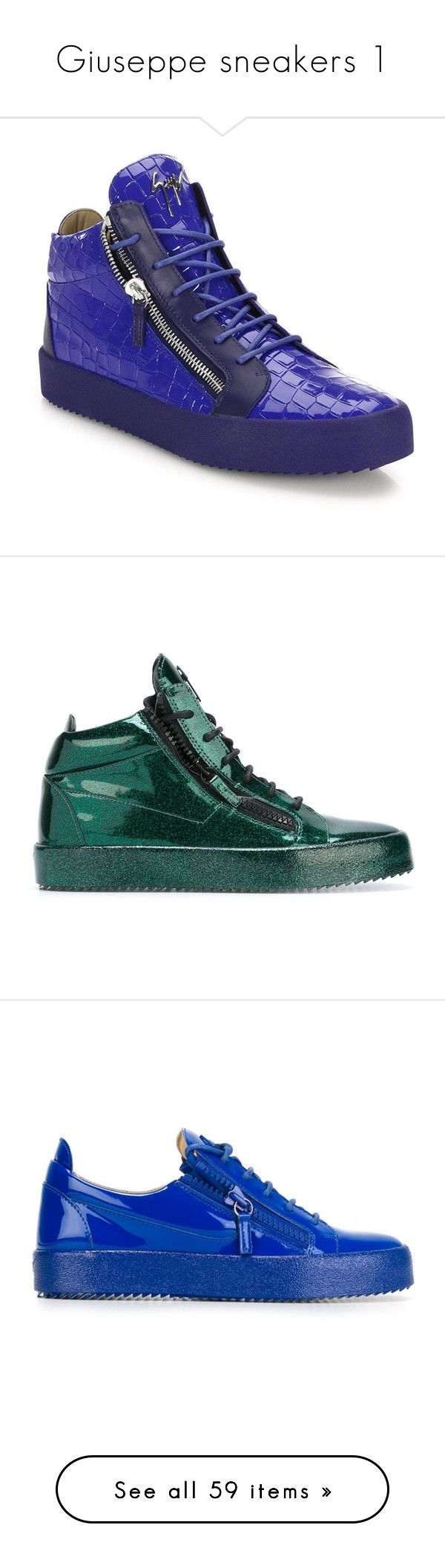 """Giuseppe sneakers 1"" by missy-smallen ❤ liked on Polyvore featuring men's fashion, men's shoes, men's sneakers, apparel & accessories, bluette, mens suede sneakers, mens high top shoes, mens suede shoes, mens lace up shoes and giuseppe zanotti mens sneakers"