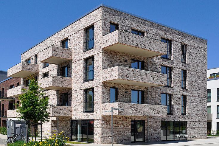 Röben Klinker, Bricks | Handstrichziegel WIESMOOR kohle-weiß | Wohnungen in Osnabrück