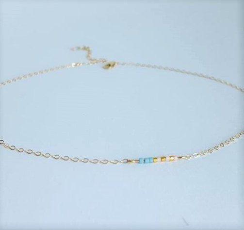 Tiny Beaded Pastel Choker // Multi-Color Minimalist Jewelry // Pastel Collar…