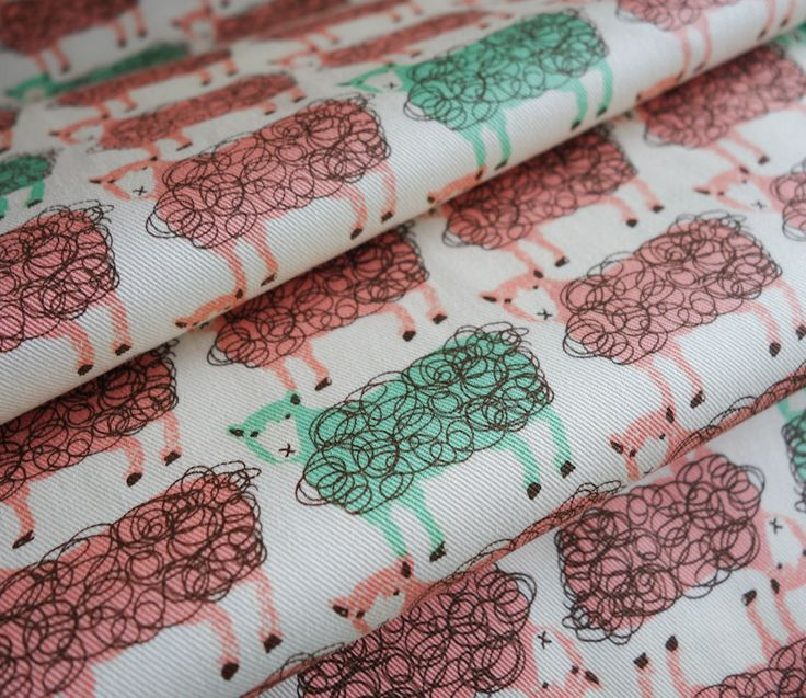 Scribble sheep fabric from #Hokkoh.  #kawaii #japanesefabric #sheep #sewing #quilting