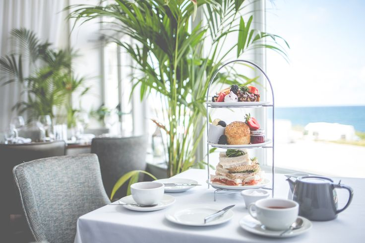 Afternoon Tea - Romantic Mini Moons at Fistral Beach Hotel | Mini Moons | http://www.rockmywedding.co.uk/romantic-cornish-mini-moons-at-fistral-beach-hotel/