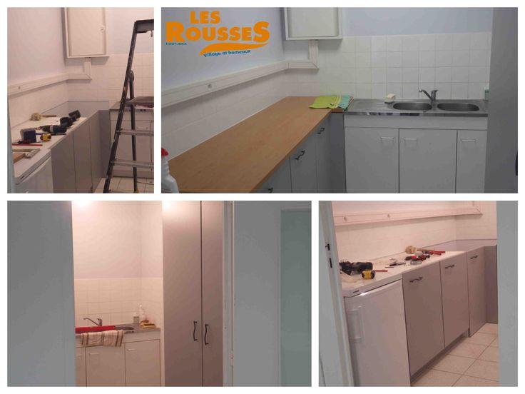 Rénovation de la cuisine de la salle G. LOYE par nos services techniques.
