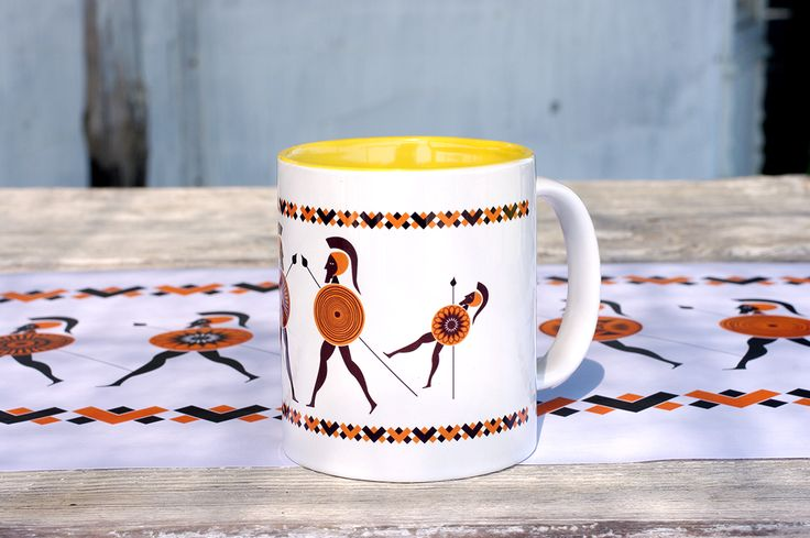Mug inspired from ancient Greece from the new collection KYANOS by Lacrimosa Design.  www.lacrimosadesign.com