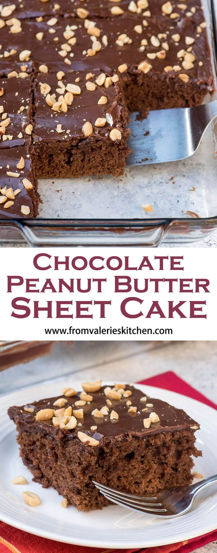 This Chocolate Peanut Butter Sheet Cake is a great choice for the chocolate-peanut butter lovers in your life. Sweet, simple to make, and so indulgent!