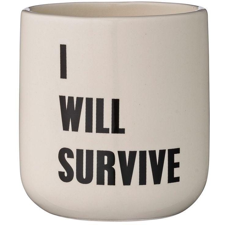 bloomingville potteskjuler i will survive | Ting
