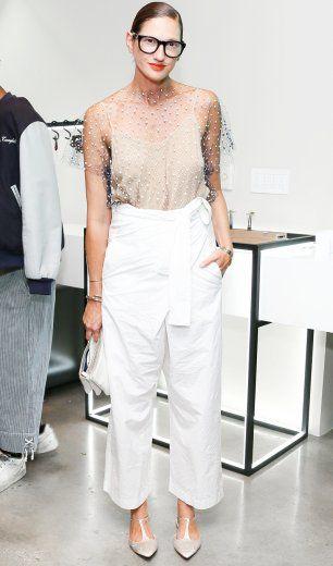 Stil-Vorlage: Jenna Lyons: So tragen Sie weiße Hosen