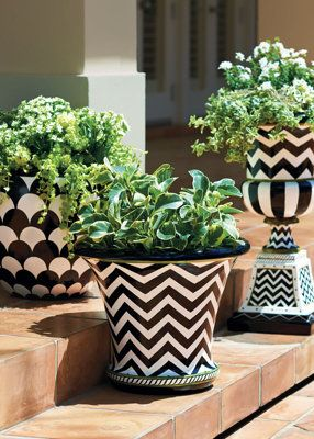 .love the patterned pots