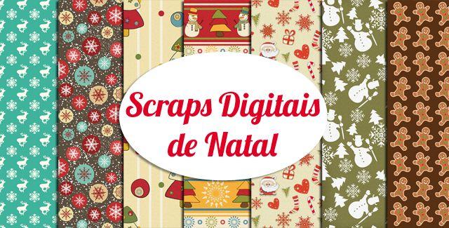 Os 50 mais lindos scraps digitais gratuitos de Natal