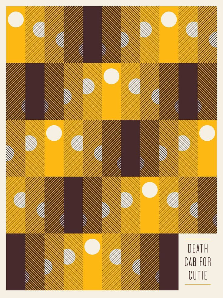 Death Cab for Cutie Poster by Jason Munn | Geometric shape layout minimal retro vintage look