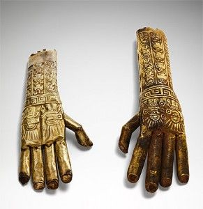 One of the striking exhibits from the Sicán-Lambayeque culture (750-1375 AD) is a pair of gold alloy Hands. These tomb sculptures are part of the NGA's permanent collection - See more at: http://johnmcdonald.net.au/2014/gold-and-the-incas/#sthash.zxkA0Zuj.dpuf