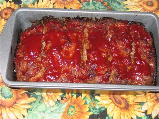 Boston Market Meatloaf: Mix 1 1/2 lb. lean ground Chuck,  1/2 Cup minced onions,  1/2 tsp. garlic salt,  3/4 C. drained diced tomatoes,  3/4 C. bread crumbs, & 1 egg till well blended. Bake @ 350 in greased pan for 45 min. Mix 3/4 cup tomato sauce & 2 T sugar, pour on meatloaf, bake 30 min til done. gm