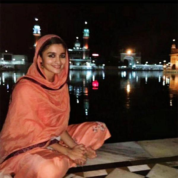 Alia Bhatt snapped at Golden Temple in Amritsar
