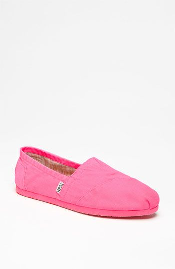 BARBIE PINK TOMS!!!!!!!      TOMS 'Palmetto Classic' Slip-On available at #Nordstrom