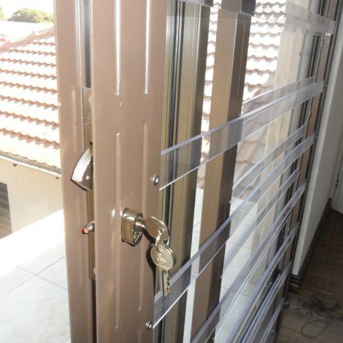 Security gates. Clear burglar bars
