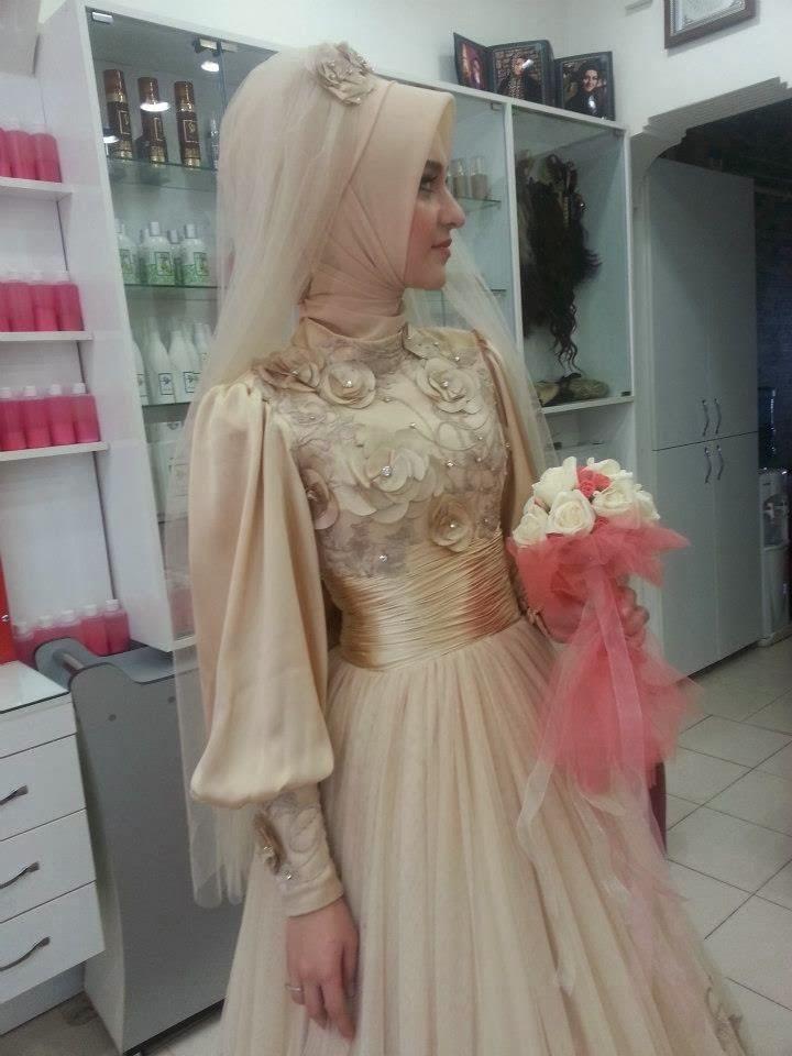 Gaun Pengantin 2014  Baju Muslimah cakepins.com