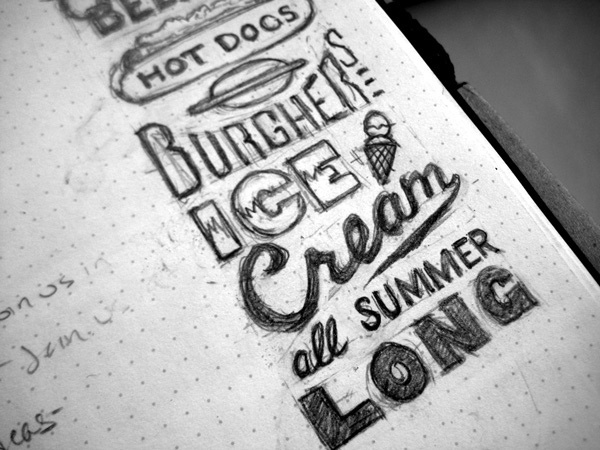 gorgeous type sketches