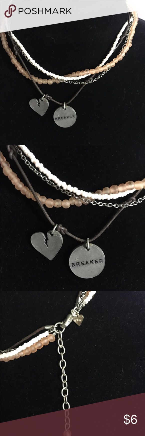Heartbreaker Surf Style Necklace 🌸 Welcome and thank you for checking out my closet 🌸  Please read below if you are interested in the item:  All items are 💯% Authentic!   Always open to reasonable offers and possible trades.   🛍 Up for sale: excellent condition. Cute and stylish. Jewelry Necklaces