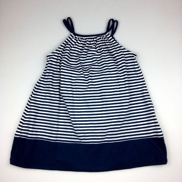 BABY GAP, girl's navy & white striped sleeveless dress, with white bloomers, brand new with tags (BNWT), size 2, $14