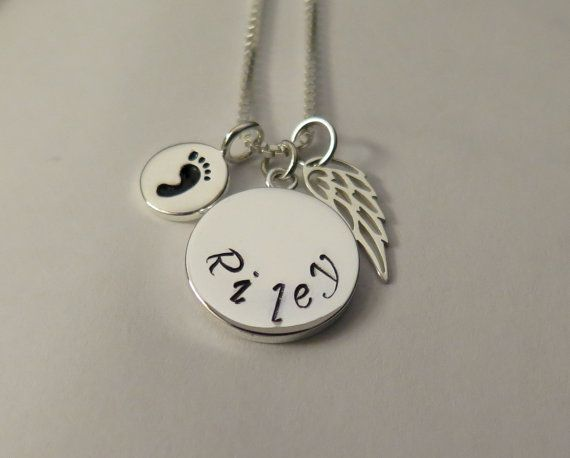 Miscarriage Jewelry Personalized Miscarry by KristiKayDesigns