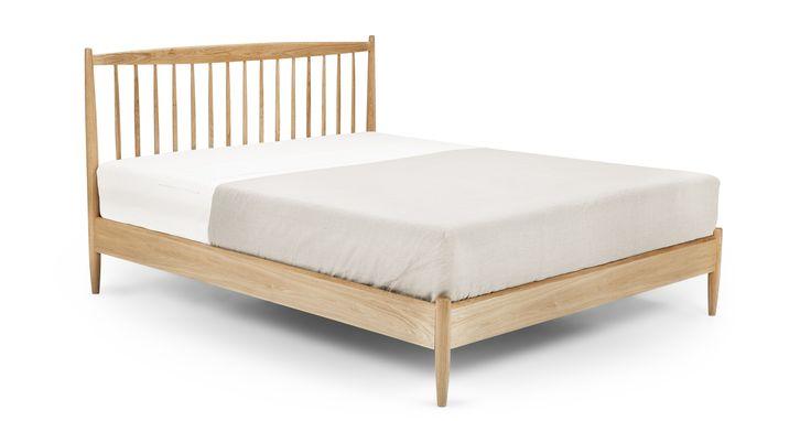 Willow 160 x 200 cm Euro Kingsize-Bett, Eiche