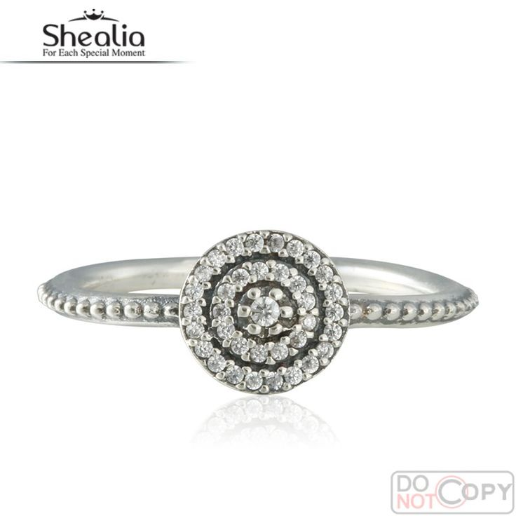 2016 Spring Radiant Elegance Rings For Women 925-Sterling-Silver Wedding Engagement AAA CZ Pave Ring Brand Logo Shealia Jewelry