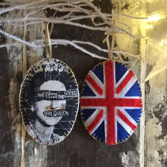 Unique Sex Pistols  God Save The Queen   by SHERWOODMADEUK on Etsy