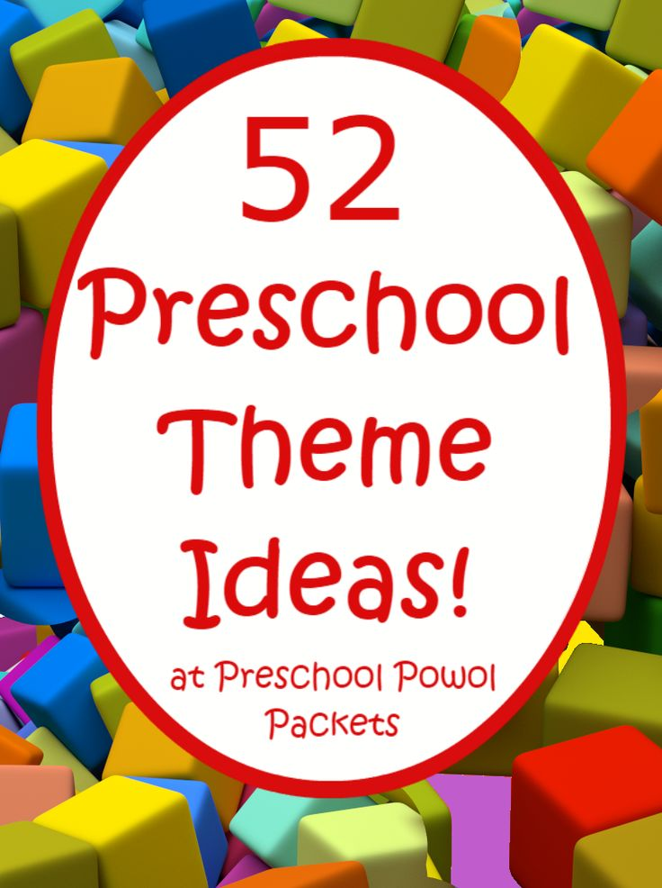Awesome! 52 preschool themes! Great for kindergarten too!
