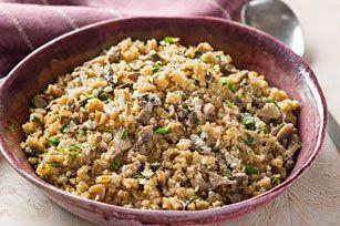 Pilaf au quinoa et aux champignons