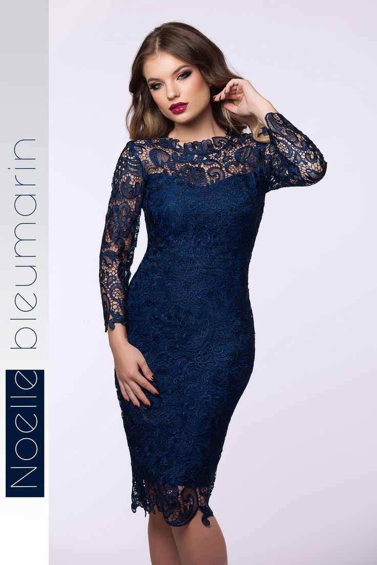 Cocktail lace dress with long sleeves in bleumarin shades: https://missgrey.org/en/dresses/midi-elegant-lace-dress-in-bleumarin-shades-noelle/607?utm_campaign=noiembrie&utm_medium=rochie_noelle_bleumarin&utm_source=pinterest_produs