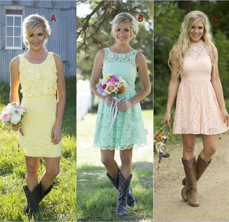 2016 Yellow Pink Mint Lace Short Bridesmaid Dresses Mixed Style Formal Dress Junior Bridesmaid Wedding Party Dresses Country Style Short Purple Bridesmaid Dresses Strapless Bridesmaid Dresses From Enjoyweddinglife, $69.87| Dhgate.Com