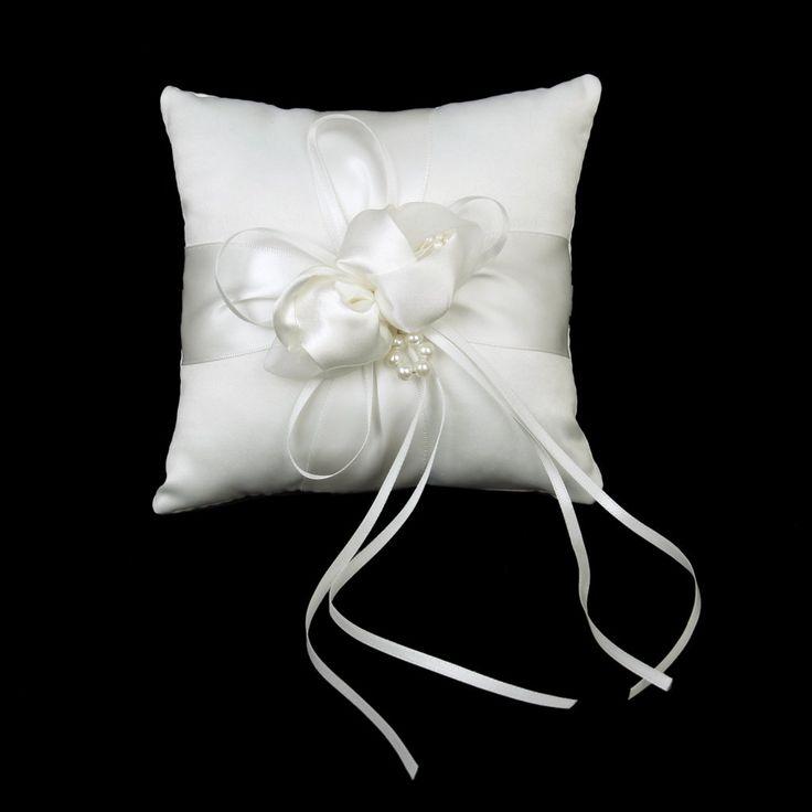 Ringkissen Schöne Elfenbein Bud Blume Hochzeit 15cmx15cm: Amazon.de: Küche & Haushalt