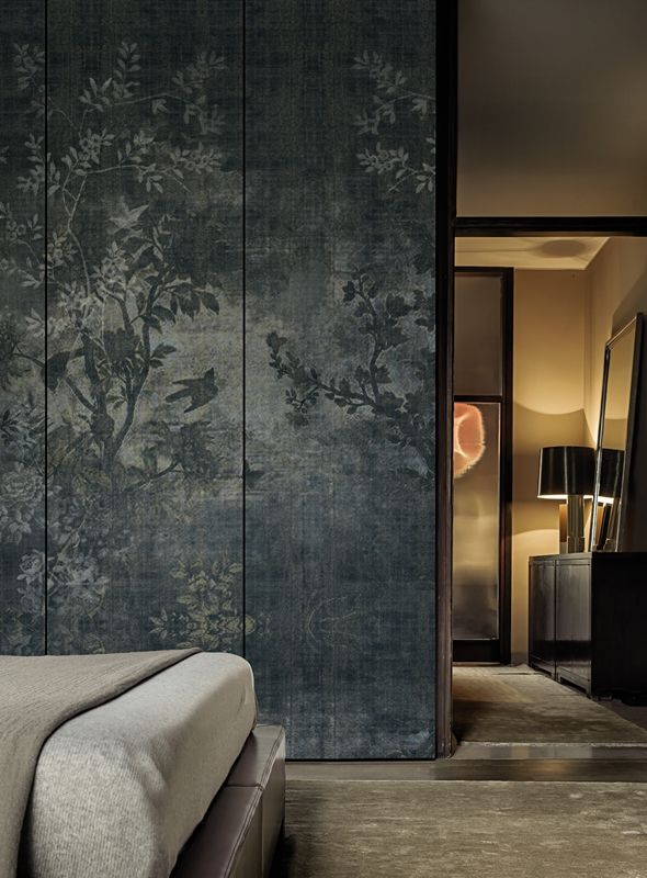Wall Paper Interior Design discover calming interior design with a moody forest wallpaper featuring a sea of trees in Midsummer Night Walldec Wallpaper Collection 2015 Design Lorenzo De Grandis
