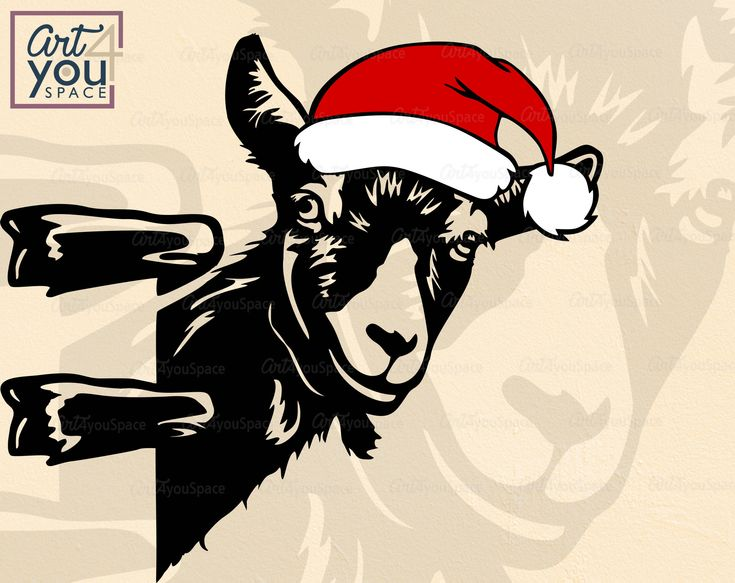 Download Goat svg files for Cricut Funny farm animal face clipart ...