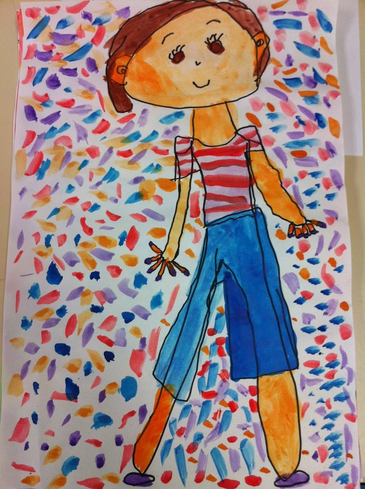 Apex Elementary Art  first grade self portraits