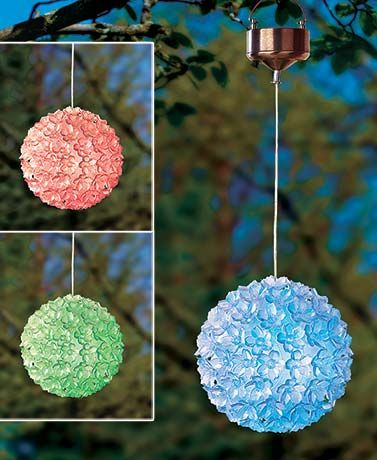 Solar Color-Changing Hanging Flower Ball
