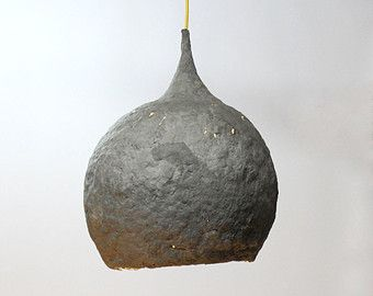 paper mache lamp black drop lamp pendant light hanging. Black Bedroom Furniture Sets. Home Design Ideas