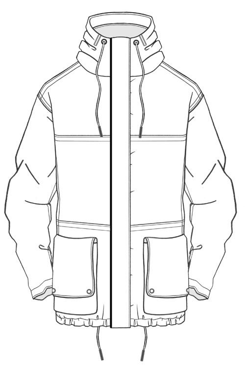 1000+ Images About Flat Fashion Sketch On Pinterest | Flats Menu0026#39;s Jacket And Polo Shirts