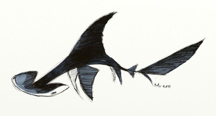 hammerhead shark drawing - Google Search