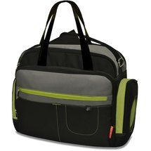 Not the cutest, but seems very functional.  Walmart: Fisher-Price Carryall Diaper Bag, Black/Gray