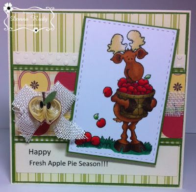 "ONECRAZYSTAMPER.COM: Fresh Apple Pie by Donna using  ""Milton's Fall Harvest"" (S214)"