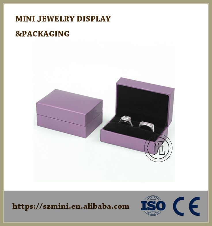 High Quality Paper With Plastic Jewelry Box,Wholesale Wedding Ring Jewelry Box,Jewelry Box Custom Logo Printed