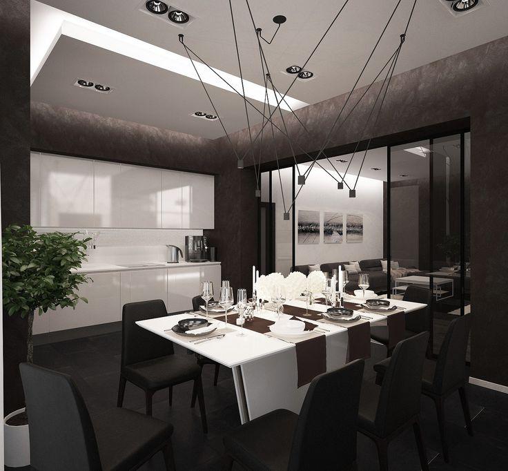 Кухня Столовая Загородный дом п.Карповка интерьер