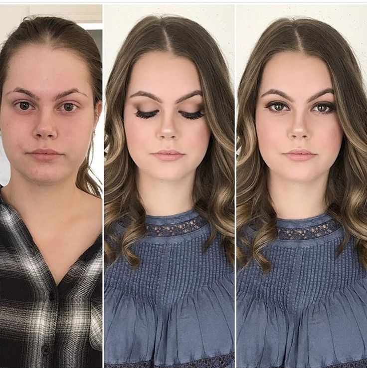 PHOTOSHOOT before and after makeup