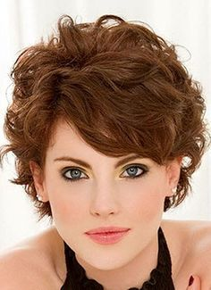 short haircuts for women over 50 with wavy hair - Google Search