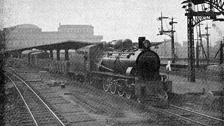 E.F.L. - A Train Departing from the Barão de Mauá Station at Rio de Janeiro