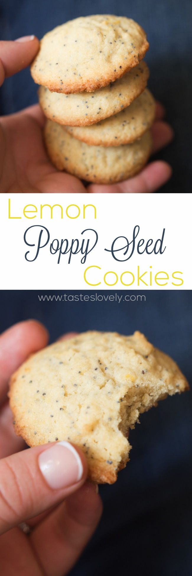 Lemon Poppy Seed Cookies. A light and lemony sweet treat!